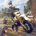狂野特技摩托车赛跑比赛